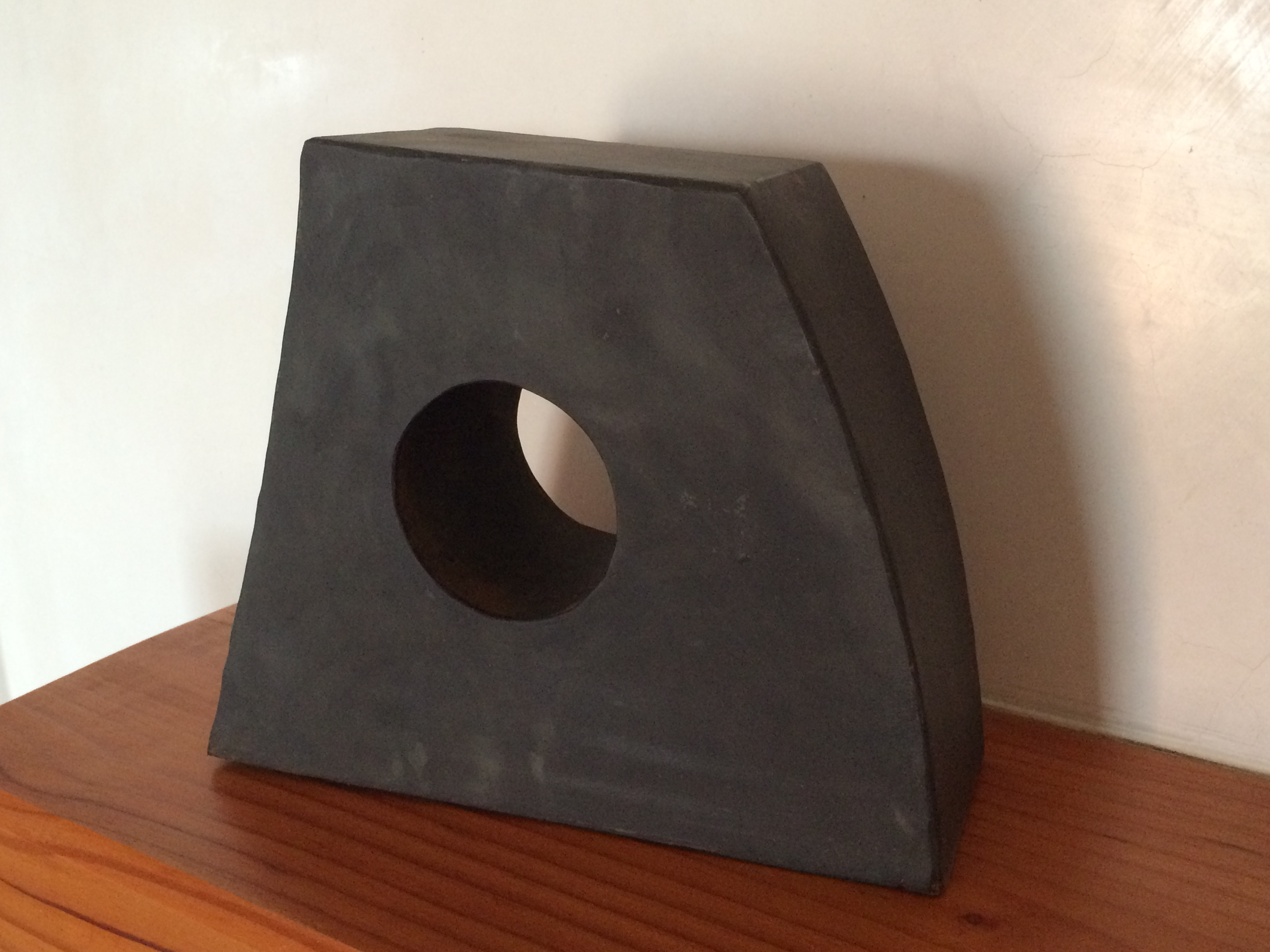 Black Hole 8x10x3 blackened steel and pipe