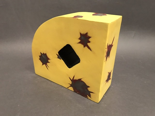 Lemon Lightening 7x8x3 painted steel and pipe